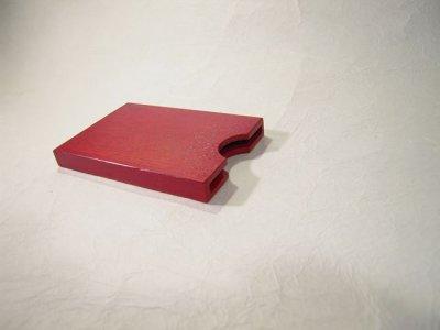 画像3: 摺り漆仕上げ名刺入れ 唐紅色