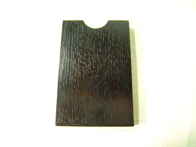 画像1: 摺り漆仕上げ名刺入れ 墨色 (1)