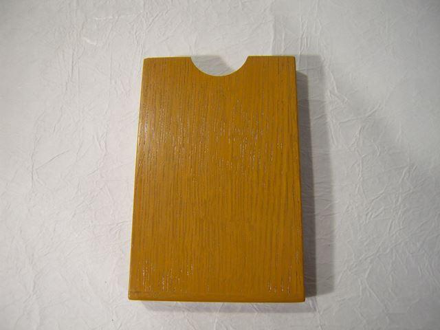 画像1: 摺り漆仕上げ名刺入れ うこん色 (1)