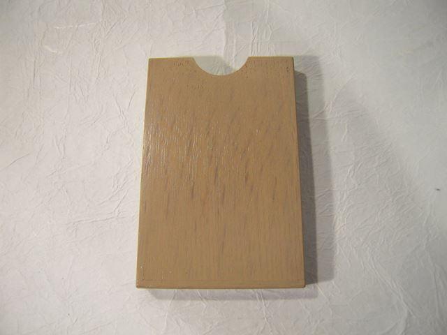 画像1: 摺り漆仕上げ名刺入れ 白茶色 (1)